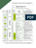 Calendario-semine-Aprile2015 Associazione La Biolca