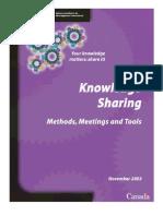Knowledge Sharing Methods