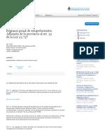 Ley 7252 - Santiago Del Estero - Regimen Penal de Estupefaciente