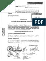 Proyecto de Ley Emergencia Provincial Pasco