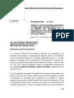 Comisión Nacional de los Derechos Humanos de México RECOMENDACIÓN 25 / 2015.