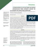 CARACTERIZACIÓN DE LOS FACTORES DE RIESGO CARDIOVASCULAR PARA INFARTO AGUDO DE MIOCARDIO EN POBLACIÓN GARÍFUNA