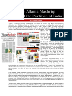 """Why Allama Mashriqi Opposed the Partition of India"" by Nasim Yousaf"