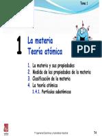 Tema 1. La Materia. Teoría Atómica