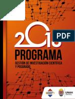 Programa de Gestion de Investigacion Cientifica y Posgrado 28-11-2018