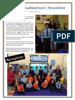 Newsletter 47 - 7th September 2018