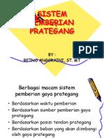 b. Sistem Prategang Fix