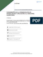 Fundamentos de La Fermentaci n en Estado s Lido y Aplicaci n a La Industria Alimentaria