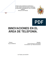 Innovaciones en El Area de Telefonia