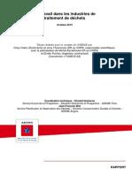 Travail Dans Industries Traitement Dechets 2013