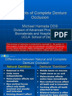 Concepts of Complete Denture Occlusion