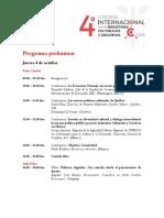 Programa Preliminar Del 4to Congreso 0