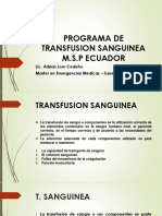 Programa de Transfusion Sanguinea m