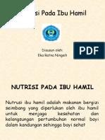 Lembar Balik Nutrisi Pada Ibu Hamil