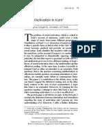 Moral Motivation in Kant