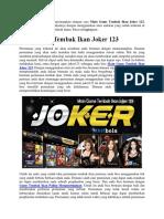 Main Game Tembak Ikan Joker 123