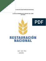 Plan Restauración Nacional
