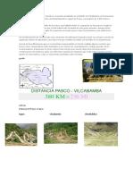 Distancia Pasco - Vilcabamba