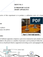 Calibration of Pressure Gauge Using Dead Weight Apparatus
