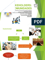 Stakeholders. Comunidades