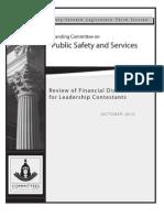 Financial Disclosure Final Report