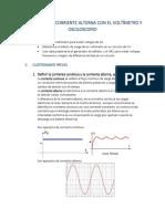 Mediciones de Corriente Alterna Con El Voltímetro y Osciloscopio