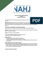NAHJ Board MInutes 7.22.18