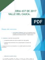 Convocatoria 437 de 2017