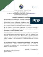 Comunicado de Prensa sobre Venezuela