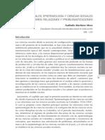 Ciencias Sociales, Epistemología y Ciencias Sociales Escolares