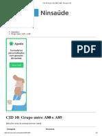 CID 10 Grupo Entre A80 e A89 - Pesquisa CID
