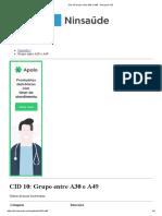 CID 10 Grupo Entre A30 e A49 - Pesquisa CID