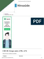 CID 10 Grupo Entre A70 e A74 - Pesquisa CID