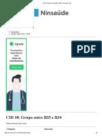 CID 10 Grupo Entre B25 e B34 - Pesquisa CID
