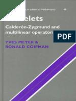 [Yves Meyer, Ronald Coifman] Wavelets Calderón-Z