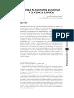 Critica Al Concepto de Ciencia Y de Ciencia Jurídica