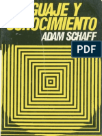 Adam Schaff - Lenguaje y Conocimiento