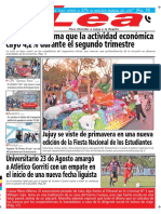 Periódico Lea Jueves 20 de Septiembre Del 2018