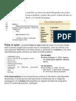 Tipos de Ficha Bibliografica