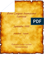 Primeiro Congresso Internacional Espiritista 1888.