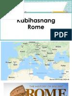 Kabihasnang Rome. Aral Pan 9