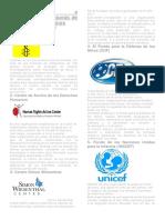 Organizaciones e Instituciones Defensoras de Los Derechos Humanos
