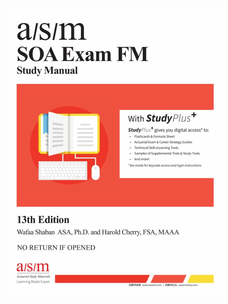 [PRE] ASM Study Manual for SOA Exam FM, 13th Edition 1-100