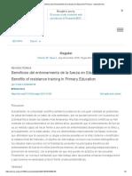 Beneficios Del Entrenamiento de La Fuerza en Educación Primaria - ScienceDirect
