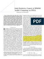 Fast Online Model Predictive Control of IPMSM Using Parallel Computing on FPGA