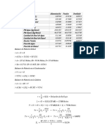 Practica Destilación, Memoria de Cálculo