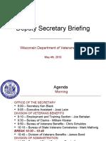 WDVA Agency Overview Briefing to Deputy Secretary - May 4, 2010