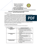 School Based Guidelines on the Search for Outstanding Teaching and non teaching personnel