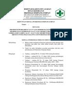 Sk Prosedur Memisahkan Alat Kotor Dan Bersih (Edit)
