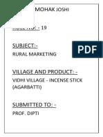 Vedhi Village - Incense Sticks